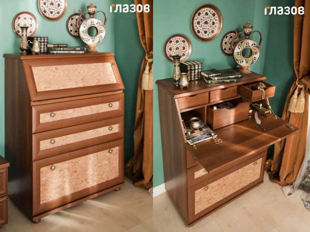Спальня 5. модульная серия марракеш. глазовская мебельная фа.