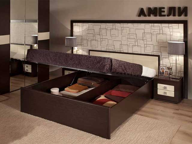 """Кровать """"Амели-3"""" 1400 б/м, с под.мех."""