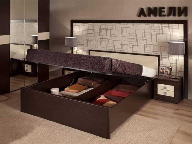 """Кровать """"Амели-1"""" 1800 б/м, с под.мех."""