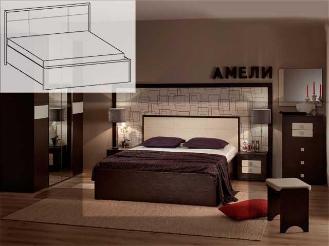 """Кровать """"Амели Люкс-201"""" 1600 б/орт"""