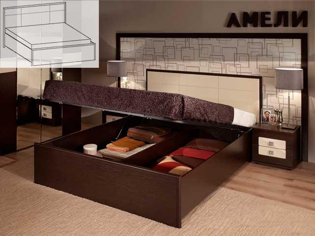 """Кровать """"Амели Люкс-201"""" 1600 б/м, с под.мех."""