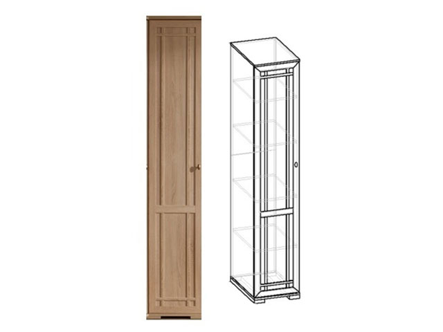 Шкаф для белья 9 (дуб)