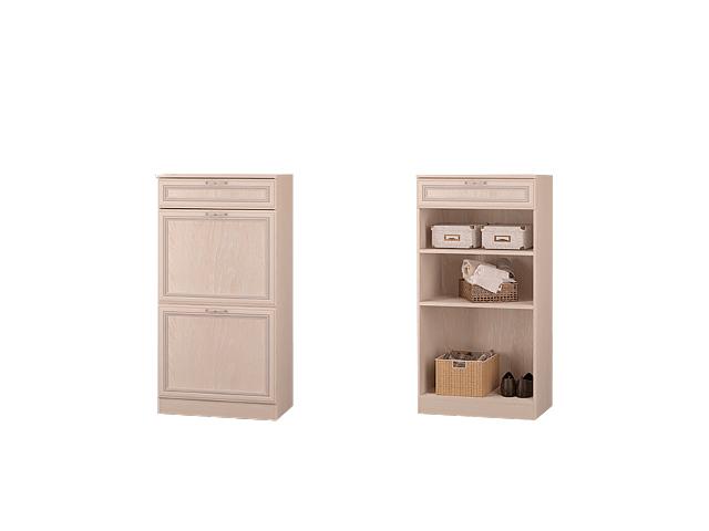 Тумба с дверками и ящиками