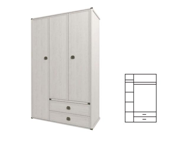 Шкаф 3DG2S