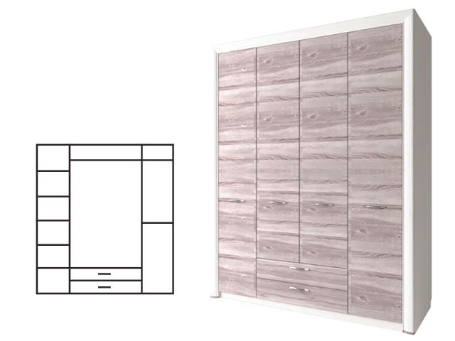 Шкаф 4D2S без зеркала