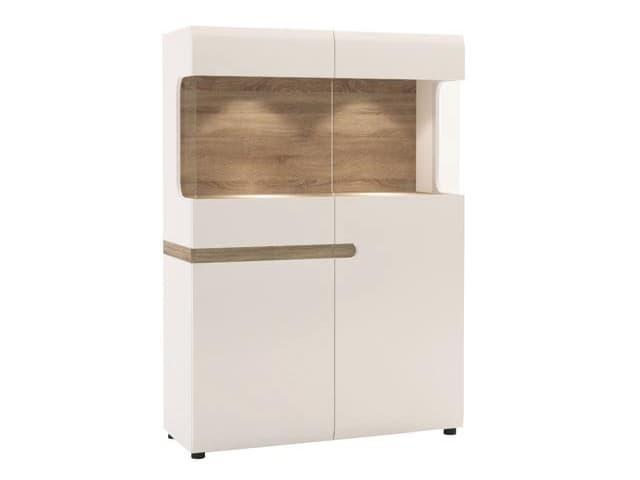 Шкаф с витриной 3D-1S/TYP 33
