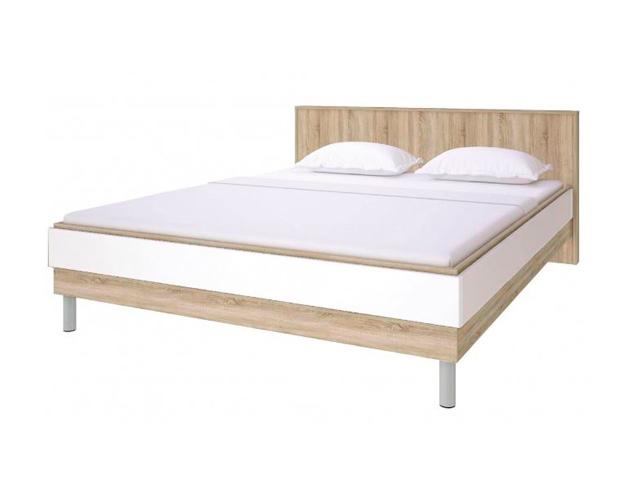 СТЛ.143.11 Кровать (белый глянец)
