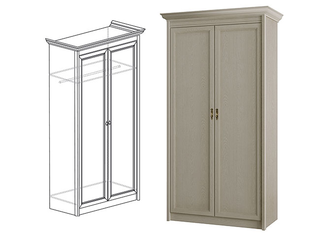 Шкаф д/одежы 2-дв. мод.661