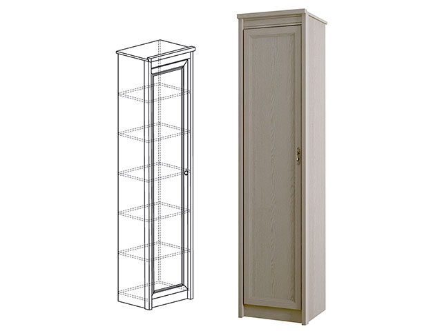 642 Шкаф для одежды 1-дв.
