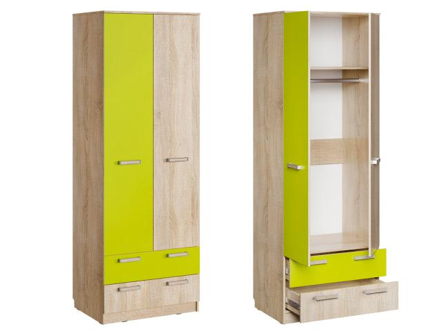 НМ 013.02-03 М Шкаф для одежды с ящиками