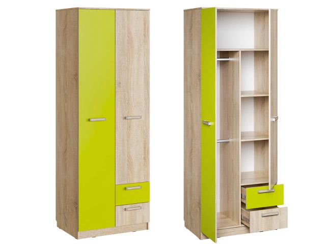 НМ 14.07 Шкаф для одежды с ящиками