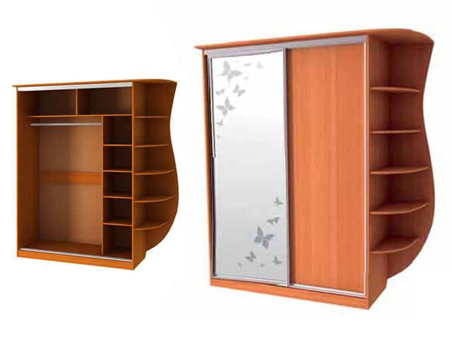 Шкаф-купе Оскар 1-600 бабочки