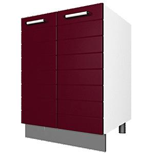 03_41 шкаф рабочий под мойку L600 (2 дв. глух.)