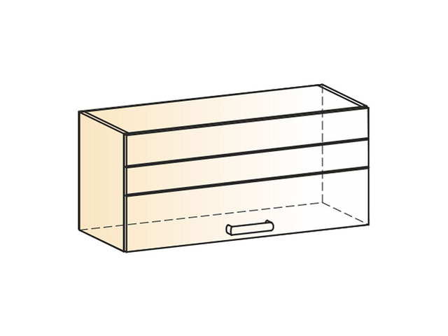 . Шкаф навесной L800 Н360 (1дв.гл.).
