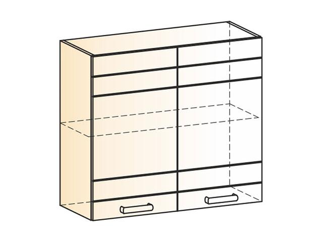 Шкаф навесной L800 Н720 (2дв.гл.)