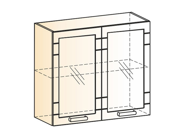 Шкаф навесной L800 Н720 (2дв.рам.)