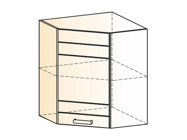 Шкаф навесной угл. L600х600 Н720 (1дв.гл.)