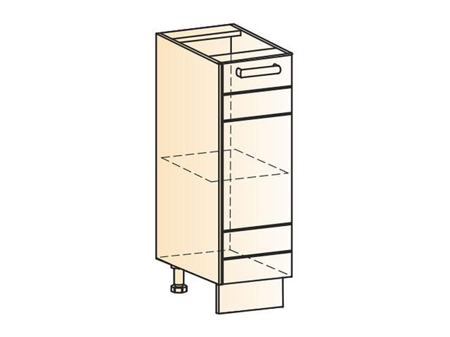 Шкаф рабочий L200 (1дв.гл.)