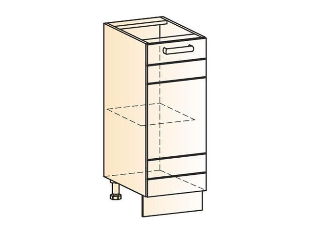 Шкаф рабочий L300 (1дв.гл.)