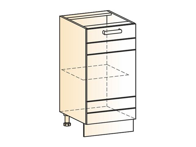 Шкаф рабочий L400 (1дв.гл.)