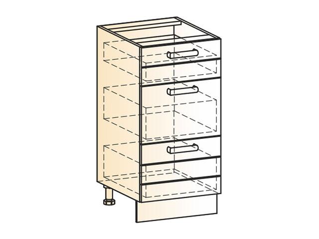 Шкаф рабочий L400 (3ящ.)