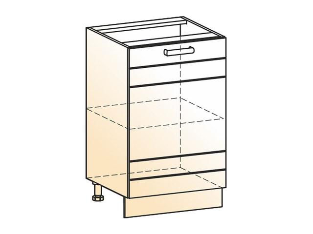 Шкаф рабочий L500 (1дв.гл.)