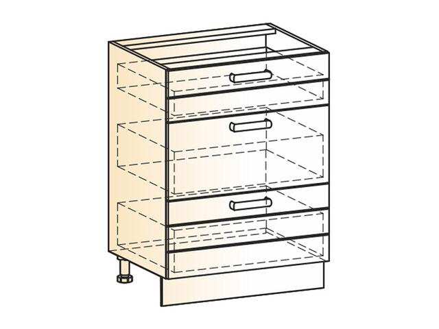 . Шкаф рабочий L600 (3ящ.).