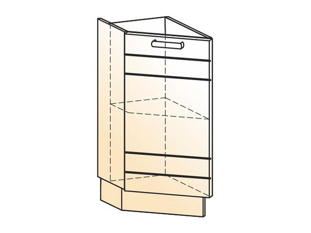Шкаф рабочий концевой 45 гр. L300 (1дв.гл.)