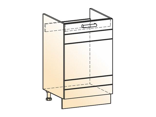 . Шкаф рабочий под мойку L500 (1дв.гл.).