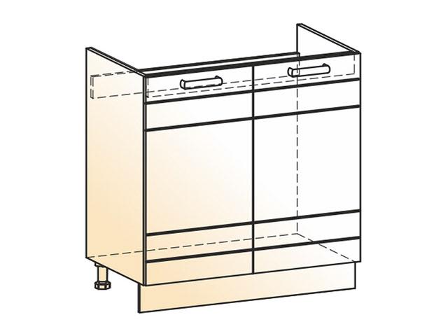 Шкаф рабочий под мойку L800 (2дв.гл.)