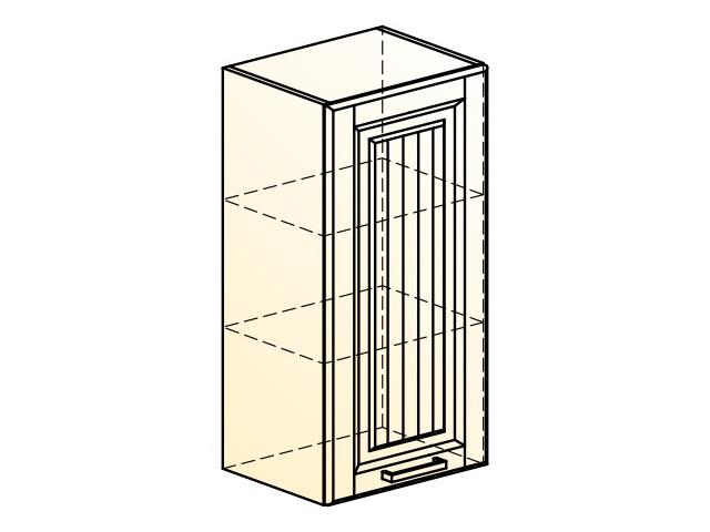 . Прованс Шкаф навесной L400 H804 (1 дв. гл.).