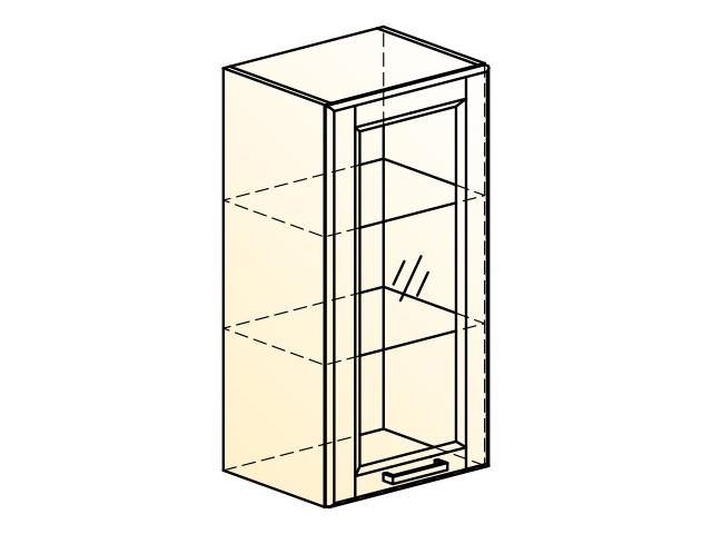 . Прованс Шкаф навесной L400 H804 (1 дв. рам.).