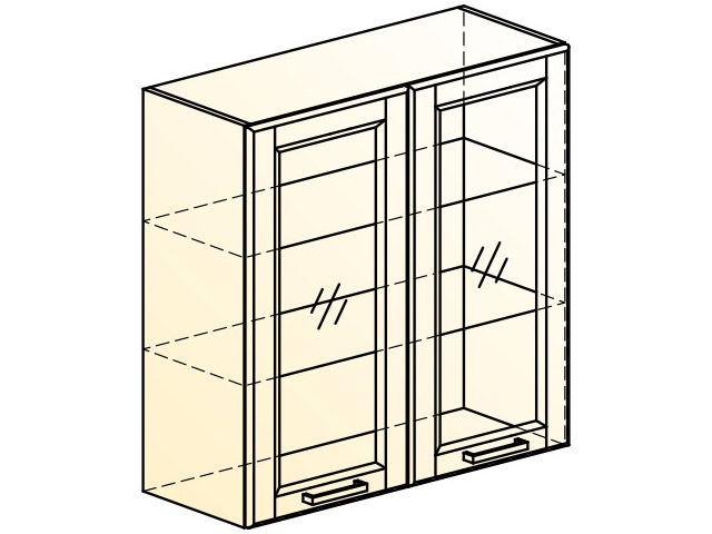 . Прованс Шкаф навесной L800 H804 (2 дв. рам.).