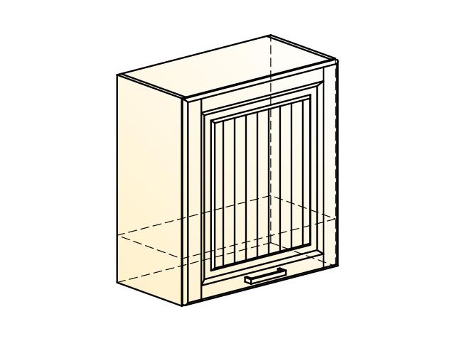 . Прованс Шкаф навесной под вытяжку L600 H650 (1 дв. гл.).