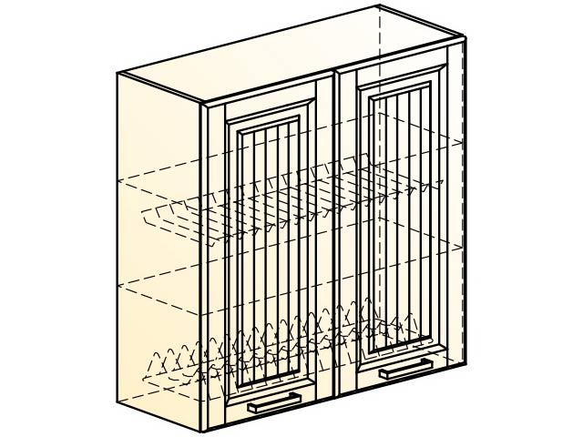 . Прованс Шкаф навесной под сушку L800 H804 (2 дв. гл.).