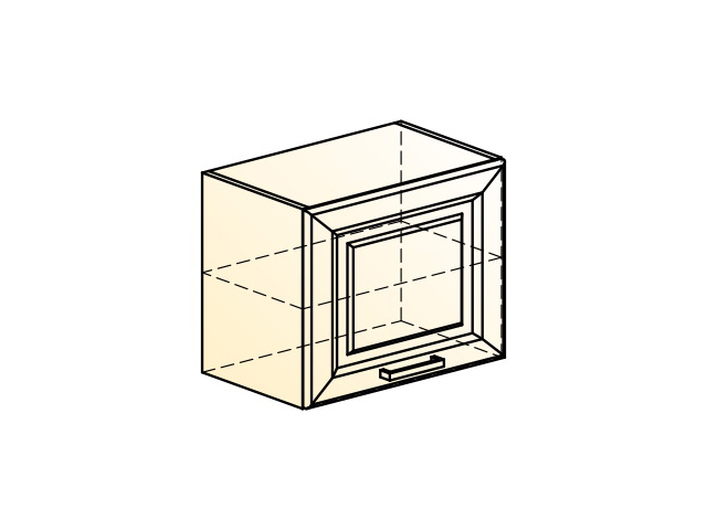 . Палермо Шкаф навесной L500 H402 (1 дв. гл.).