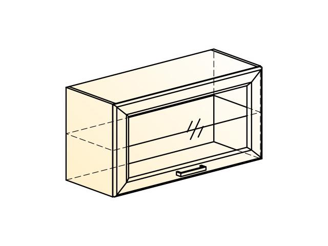 . Палермо Шкаф навесной L800 H402 (1 дв. рам.).