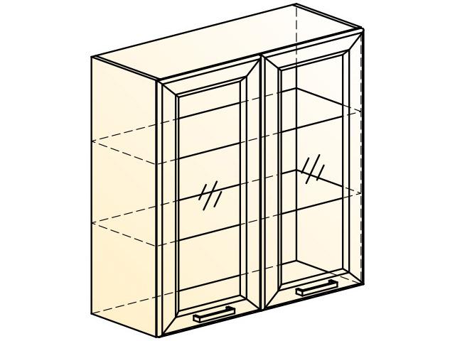 . Палермо Шкаф навесной L800 H804 (2 дв. рам.).