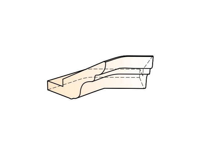 Бергамо Элемент карниза угловой внутренний (135 град.)