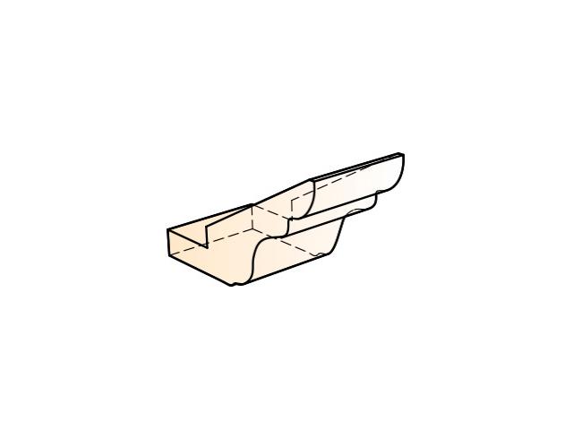 Бергамо Элемент карниза стыковочный прямой