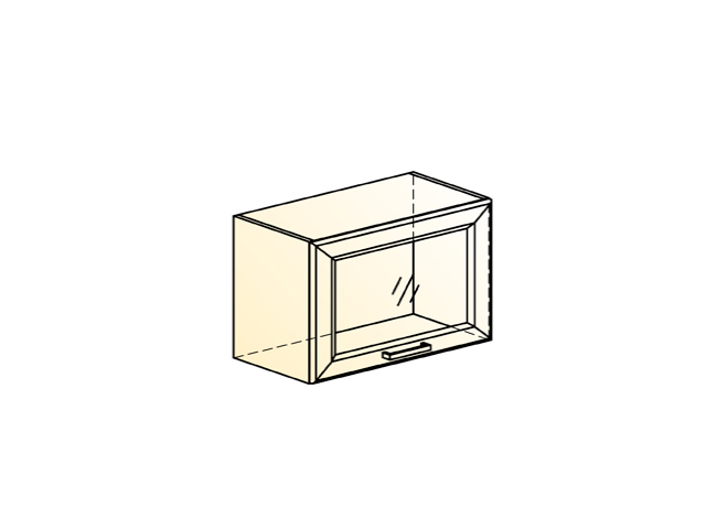 Шкаф навесной L600 Н360 (1 дв. рам.)