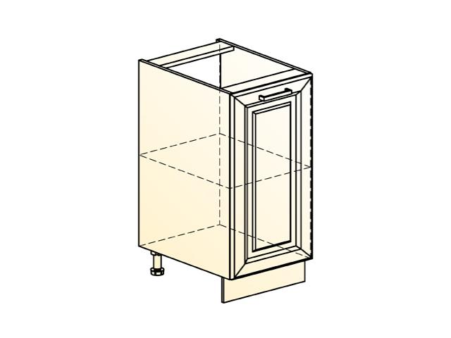 Шкаф рабочий L400 (1 дв. гл.)
