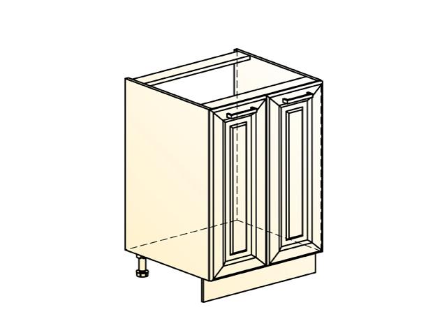 Шкаф рабочий под мойку L600 (2 дв. гл.)