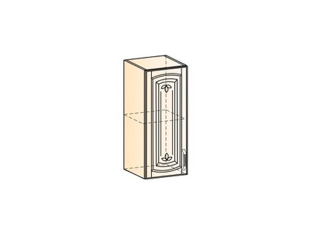 Бергамо Шкаф навесной L300 H720 (1 дв. гл.)