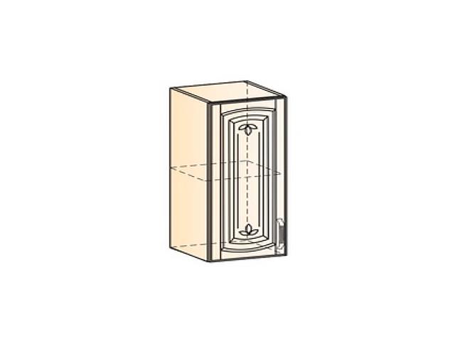 Бергамо Шкаф навесной L400 H720 (1 дв. гл.)