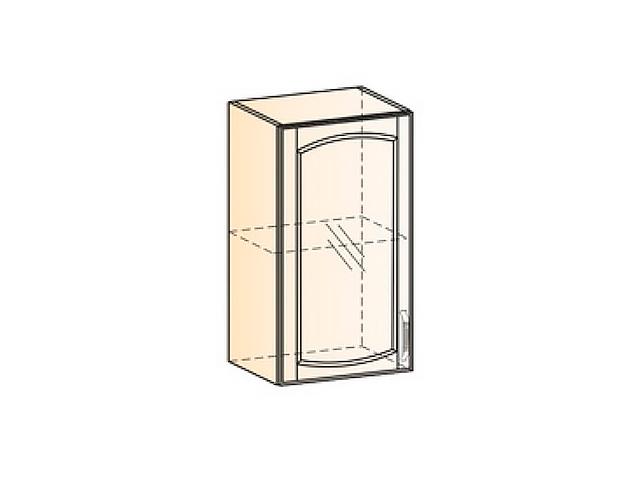Бергамо Шкаф навесной L400 H720 (1 дв. рам.)
