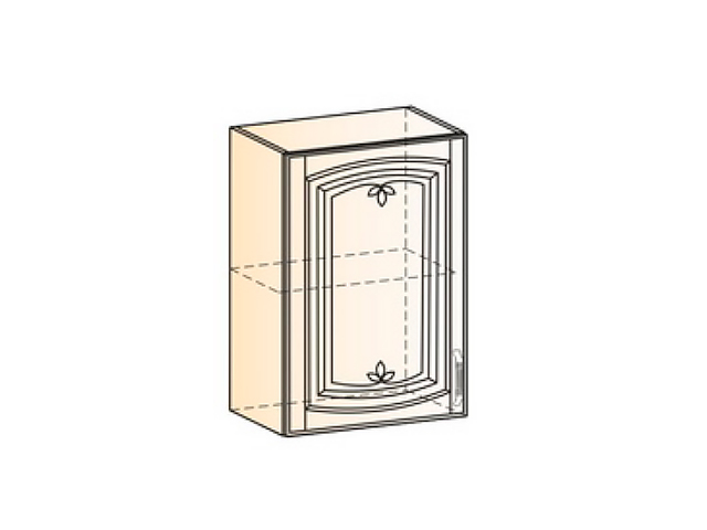Бергамо Шкаф навесной L500 H720 (1 дв. гл.)