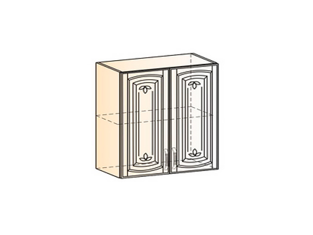 Бергамо Шкаф навесной L800 H720 (2 дв. гл.)