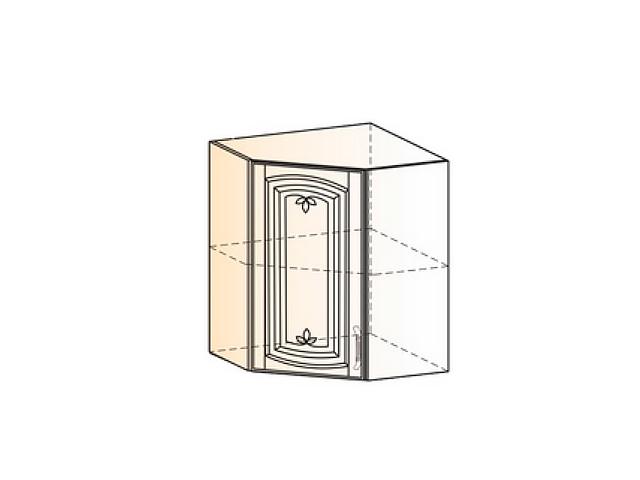 Бергамо Шкаф навесной угловой L600х600 H720 (1 дв. гл.)