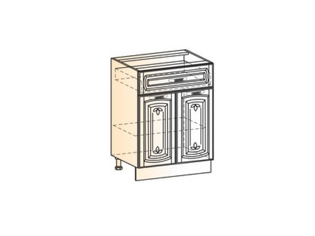 Бергамо Шкаф рабочий L600 (2 дв. гл. 1 ящ.)